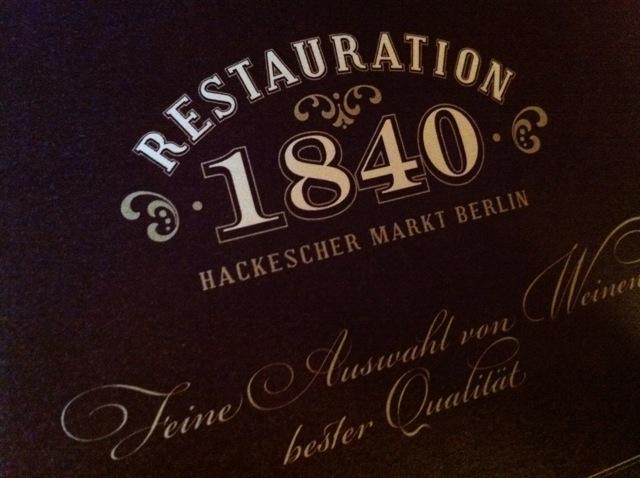 Restauration 1840 Hackescher Markt Berlin Alt Berliner Speisen