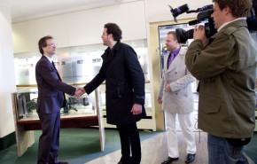 ZDF DREH Hallo Deutschland 2012 Berlin Concierge Juwelier Jens Lorenz Begruessung Julia Bauer
