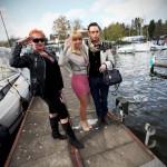 Annemarie Eilfeld und Julian Stoeckel A und A Boote Saisoneröffnung auf Marina Lanke Werft Berlin Luxusyachten Motorboote