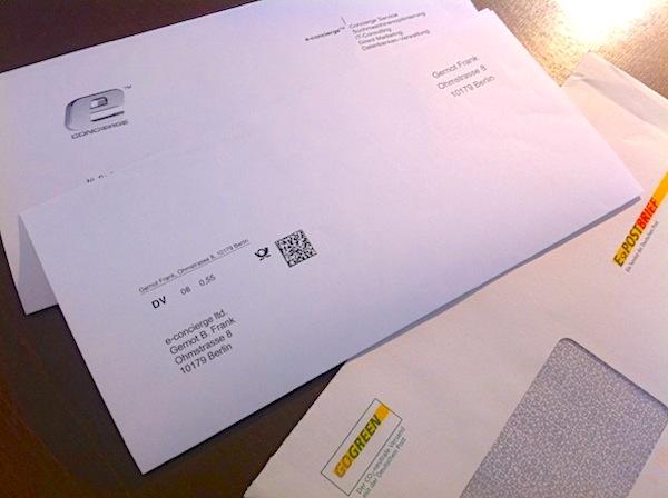 Briefe Mit Vermerk Persönlich : E postbrief concierge versendet gogreen mit co