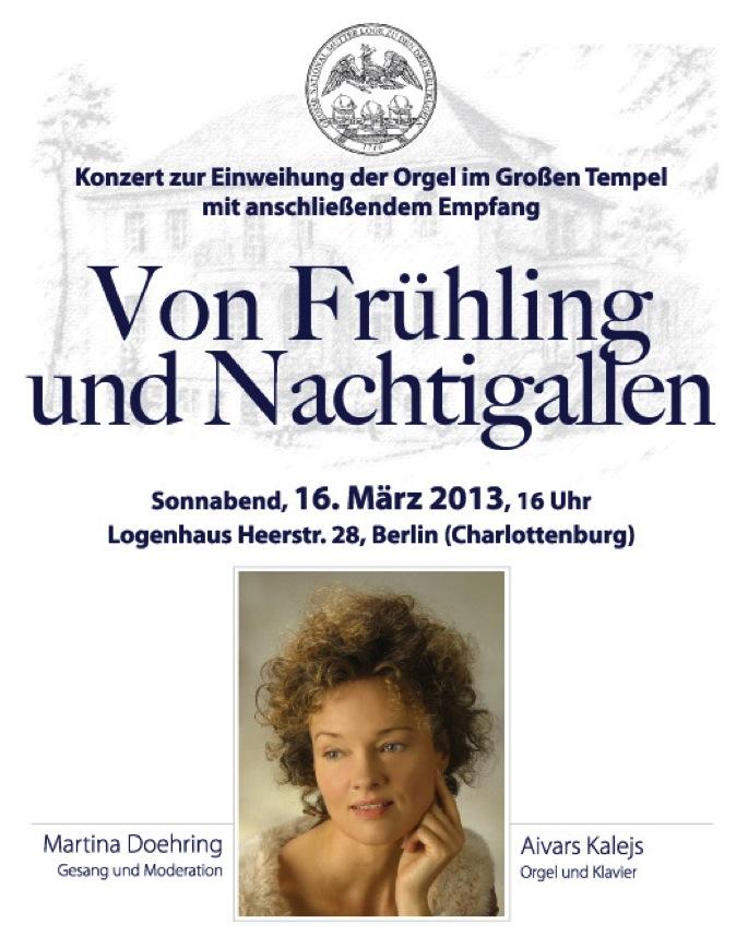 Orgel Tempel Grosse National-Mutterloge Zu den drei Welkugeln Berlin