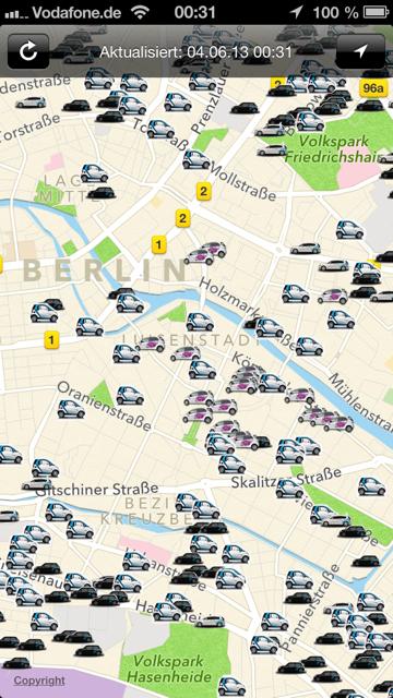 car sharing berlin sinnvolles app zu pr fung der verf gbarkeit der fahrzeuge von car2go. Black Bedroom Furniture Sets. Home Design Ideas
