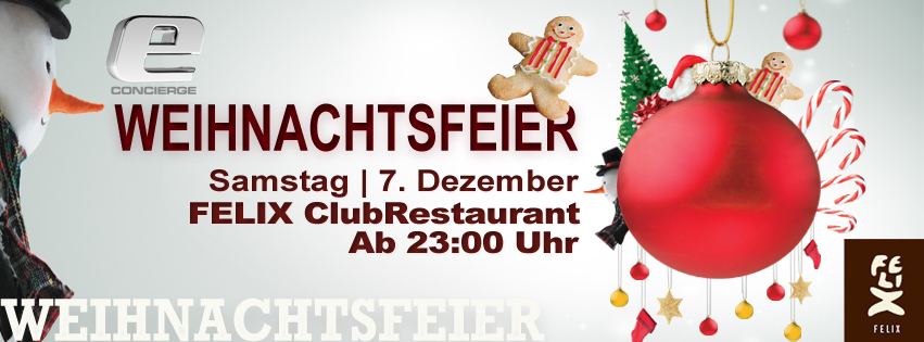 weihnachtsfeier 2013 von e concierge im felix club berlin. Black Bedroom Furniture Sets. Home Design Ideas