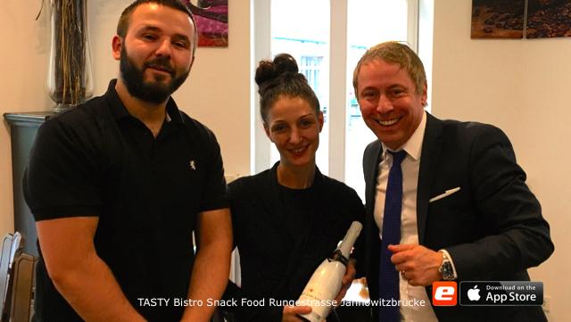 Inhaber TASTY Bistro Snacks Rungestrasse Ohmstrasse Concierge Jannowitzbrücke Opening
