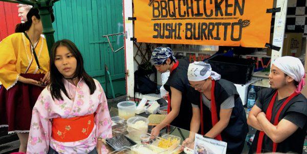 2017 Asian Original Food Zubereitung Sushi Festival Leo Veranstalter Birgit Bier Club Visionaere Treptow Kreuzberg Berlin Pfingsten