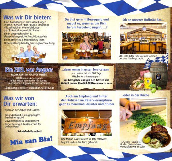 Hofbräu Berlin Ausbildung information