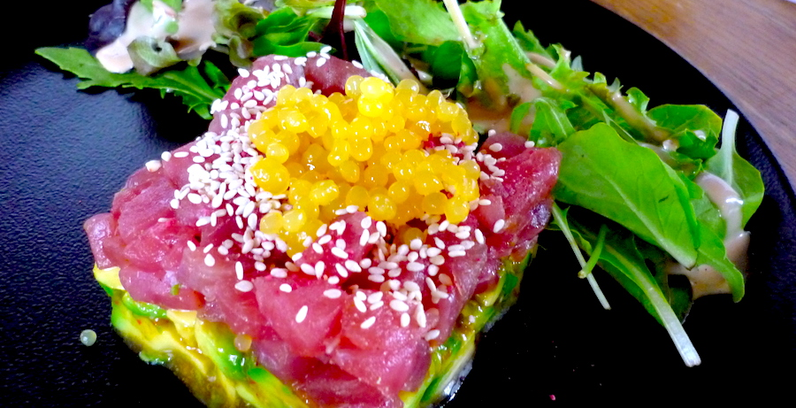Restaurant Alte Schmiede Zepernick Berlin Norden Frank Opitz Thunfischtatar Avocadosalat