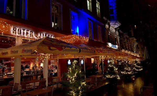 weihnachtsfeier roter jaeger Terrasse Weihnachten Dekoration Event Planung Betreuung