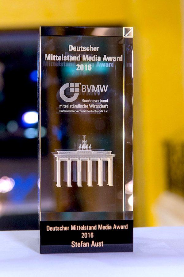 Stefan Aust Deutscher Mittelstand Media Award Bild Christian Kruppa Empfehlung Concierge Gerry Mittelstandspraesident Mario Ohoven