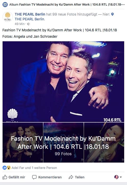 Michael Ammer Fashion TV Modelnacht by KuDamm After Work 1046 RTL Gerry Concierge Angela Jan Schroeder