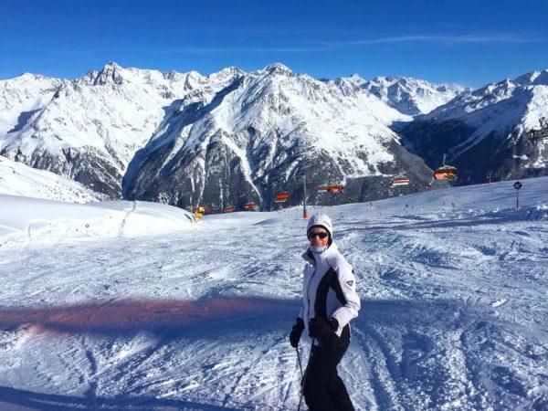 Sonne Piste Skifahren Ski Urlaub OVB Melanie Butschkat Schulter Bruch PKV Prvate Krankenversicherung