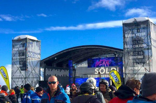 Sonne Piste Skifahren Ski Urlaub OVB Melanie Butschkat Schulter Bruch PKV Prvate Krankenversicherung Party Soelden