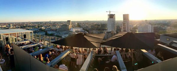 Sommerterrasse AFTER WORK DANCE Concierge Gerry Grand Opening Puro Buffet Dinner Ku'damm Europa Center Kurfürstendamm