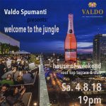 Sa. 04. August 2018 ab 19 Uhr Valdo Spumanti pres. Welcome to the Jungle auf der Terrasse des House of Weekend