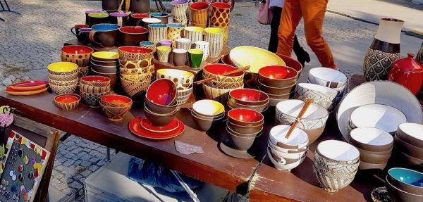 Keramik Handgemacht Handwerk Kunst Berlin Stadtbilder Druck placces Heckmann Hoefe Eileen Schliefke Stand Herbst Fest Hof Erntedank Stand