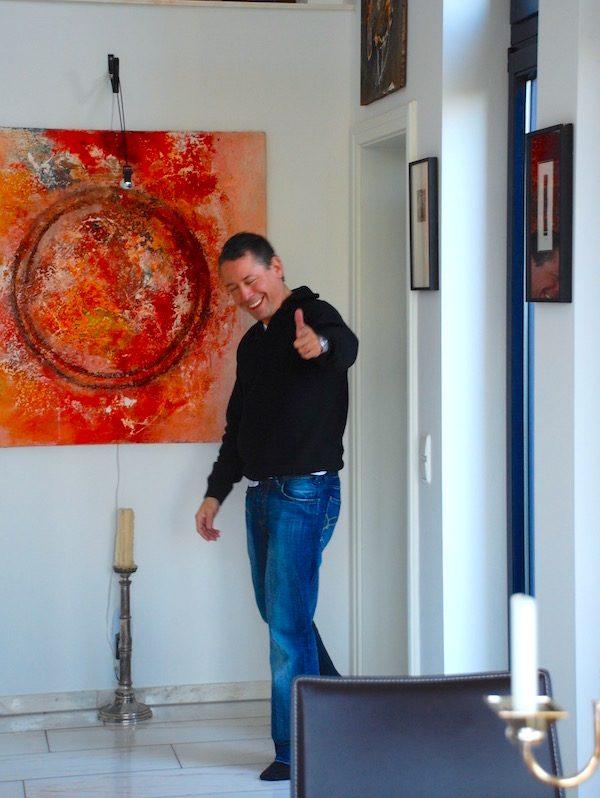 Duesseldorf Freunde Rhein entdecken Concierge Gerry Kunst