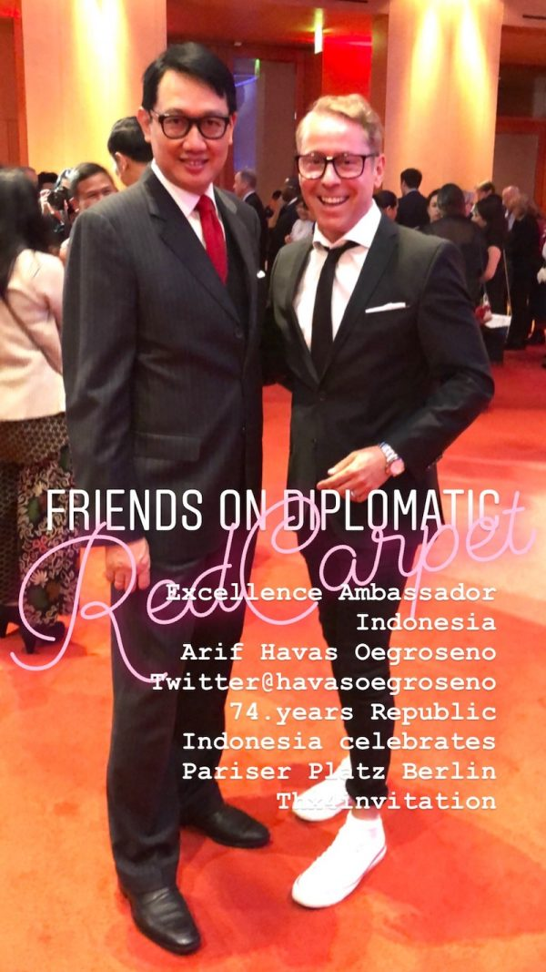 His Excellency Arif Havas Oegroseno 74 years Republic Gala Indonesia Pariser Platz Berlin Gerry Concierge