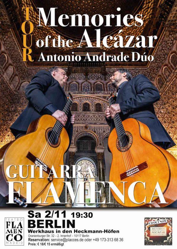 Flamenco-Berlin-Antonio-Andrade-Duo-Gitarren-Werkhaus-Heckmann-Hoefe-GUITARRAS-FLAMENCAS-concert-Mitte-Placces-Concierge-recommendation-reservation