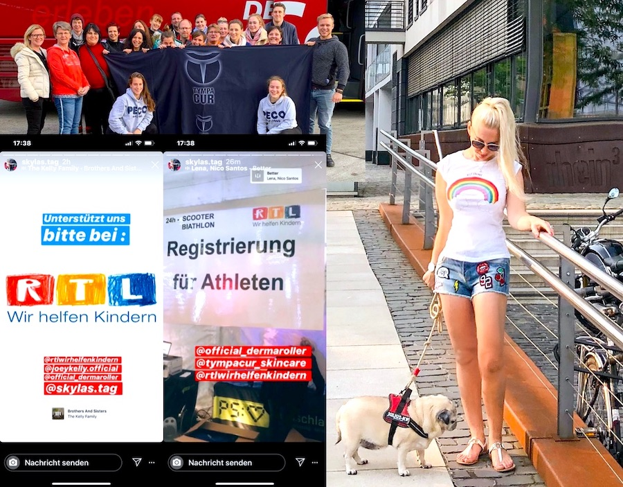Skyla Ocean RTL Wir helfen Kindern Spenden Marathon Köln Team Dermaroller