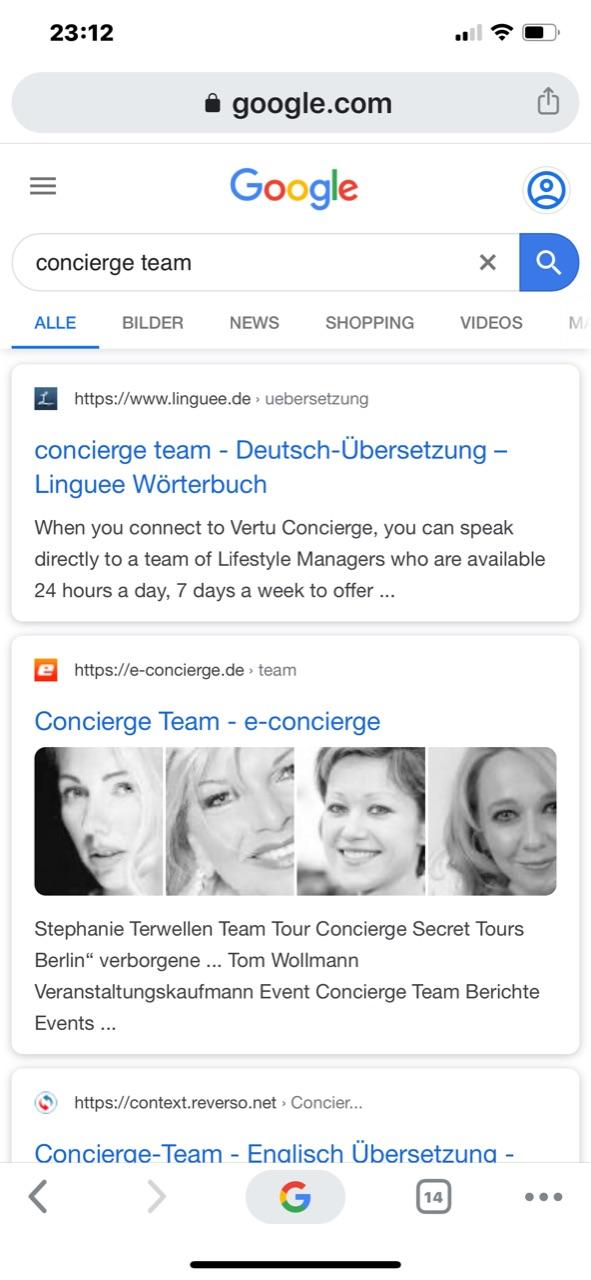 Concierge Team Jubiläum 20 Jahre eConcierge