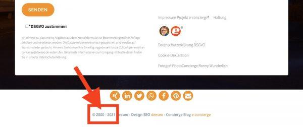 2021 Copyright© Jahreszahl automatisch CMS manuell einstellen Google Rank relevant