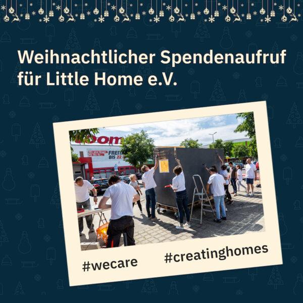 2020 1312 Weihnachtsaktion Spenden fuer Little Home spendenaufruf