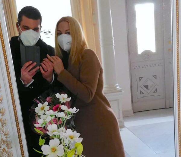 2021 Hochzeit Mike Cees Michelle Monballijn Heirat Standesamt Ehe Eheleute geheiratet Gluecklich Wann haben Monballijn und Mike Cees geheiratet?