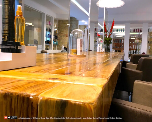 A-heads D Machts Group Salon Friseur neu Mendelssohnstrasse 27 Berlin Alexanderplatz  Dennis Loreal Redken aheads Lounge
