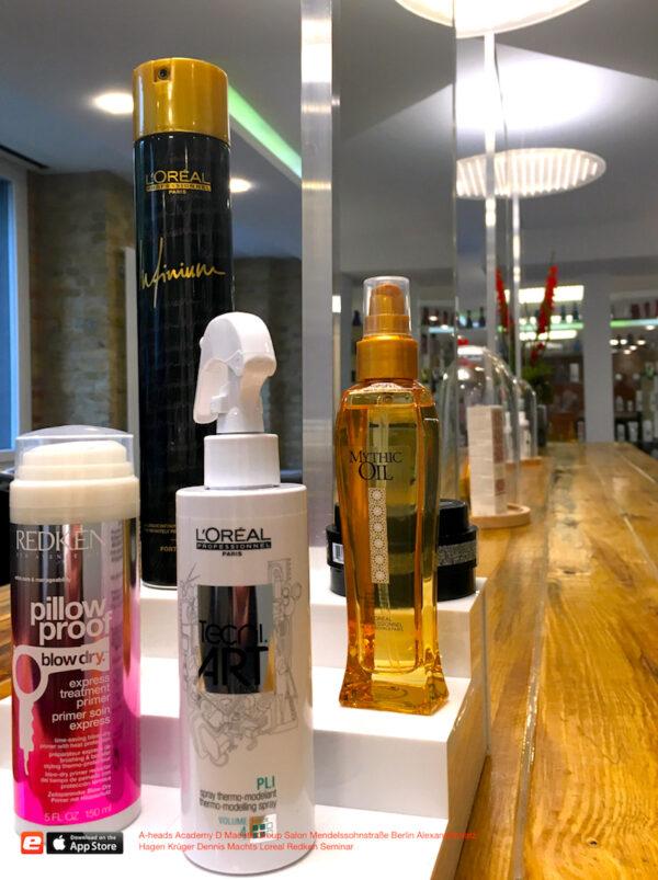 A-heads D Machts Group Salon Friseur neu Mendelssohnstrasse 27 Berlin Alexanderplatz Dennis Loreal Redken aheads Produkte
