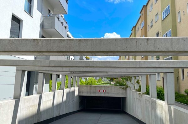 EntChemiesierung Baugewerbe bauen Veredelung Versiegeln Silikate Beton CO2 Klima DIN Tiefgarage Parkhaus