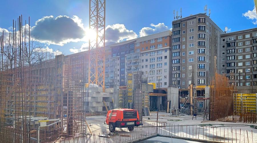 Beton komsol baustelle berlin mitte bau