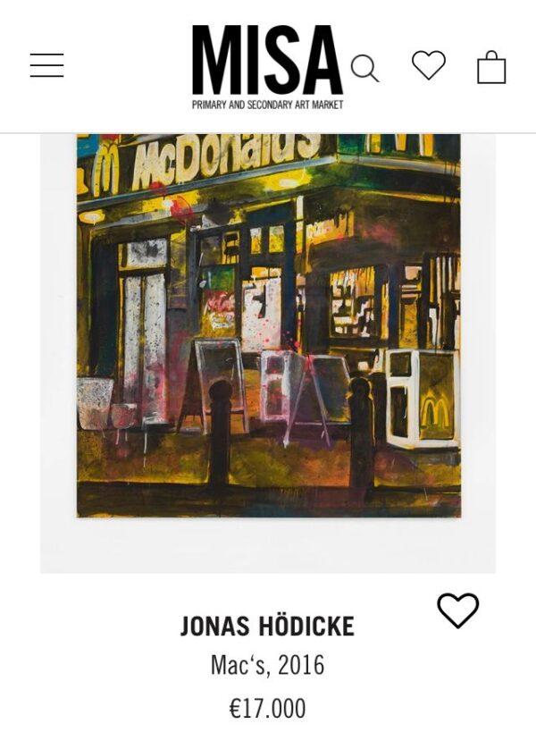Janet Grimm Vernissage Jonas Hoedicke Vernissage Kunst Kuenstler Bilder Kunstwerke Skulpturen Concierge Blog MISA Mc Donalds